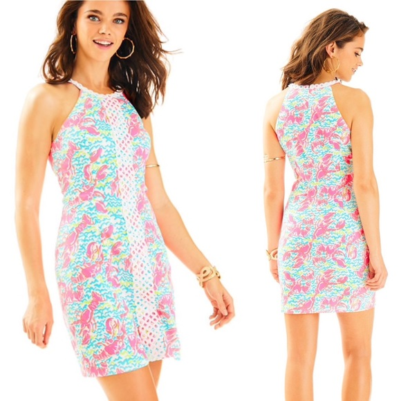 """Lilly Pulitzer Dresses & Skirts - LILLY PULITZER Pearl neon """"Lobstah Roll"""" dress"""
